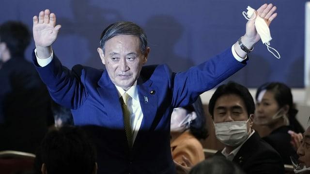 Yoshihide Suga bei der Ernennung zum neuen Parteichef.
