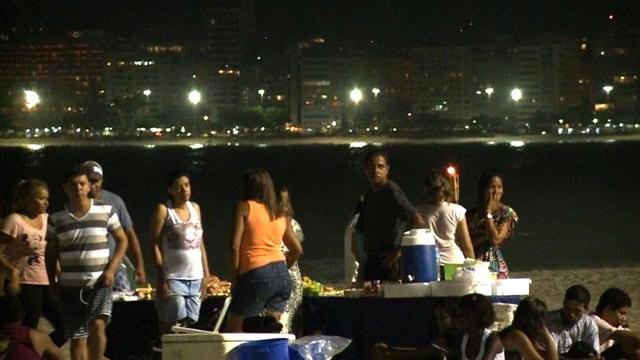 Party am Strand von Rio