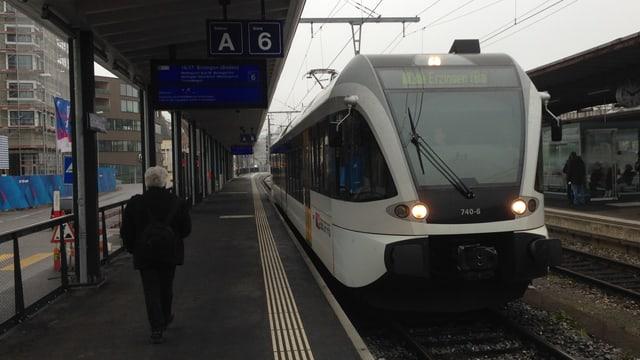 Pünklich am Ziel, aber mit zu wenig Passagieren: Die neue Schaffhauser S-Bahn.