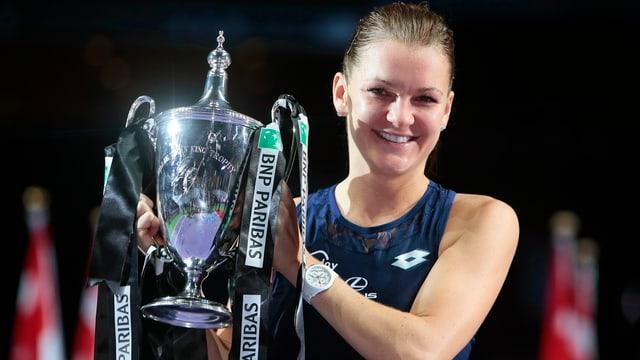 Radwanska gewann 2015 das Saisonfinale in Singapur.
