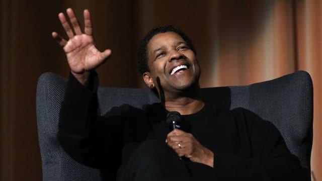 Denzel Washington an der Präsentation von «Fences»