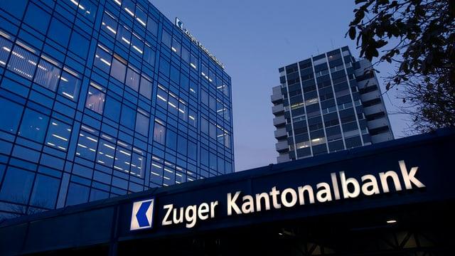 Sedia da la banca chantunala da Zug ZKB a Zug.