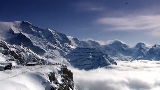 Blauer Himmel und nur wenige Wolken, Traumwetter in den Bergen