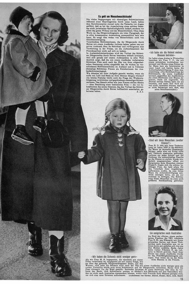 Era las medias han contribuì ha midar l'opiniun publica: qua in artitgel da la Schweizer Illustrierte dal 1951