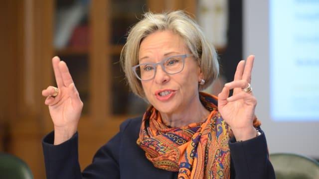 Es geht wieder aufwärts: Rosmarie Widmer-Gysel rechnet im Budget 2018 wieder mit einem Überschuss.