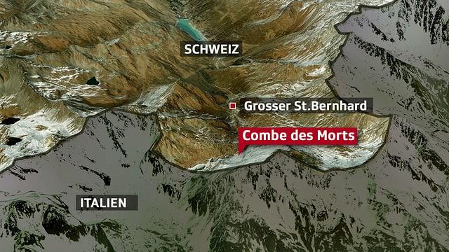 Karte des Unglücksortes