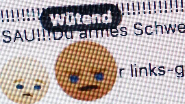 Ein Screenshot einer Internet-Seite mit beleidigenden Kommentaren.