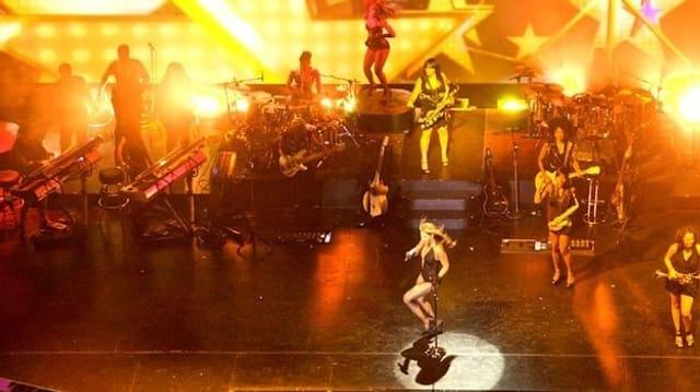 Bühnenshow der R&B-Sängerin Beyoncé Knowles.