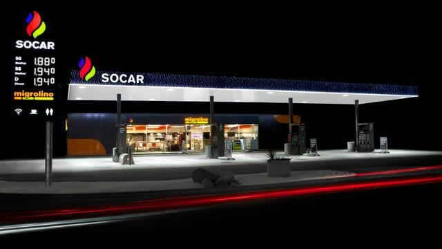 Tankstelle in Zürich