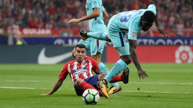 Atlético Madrid ringt Barcelona ein Remis ab.