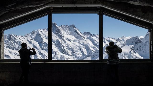 Vista sin las muntognas dal Jungfraujoch.