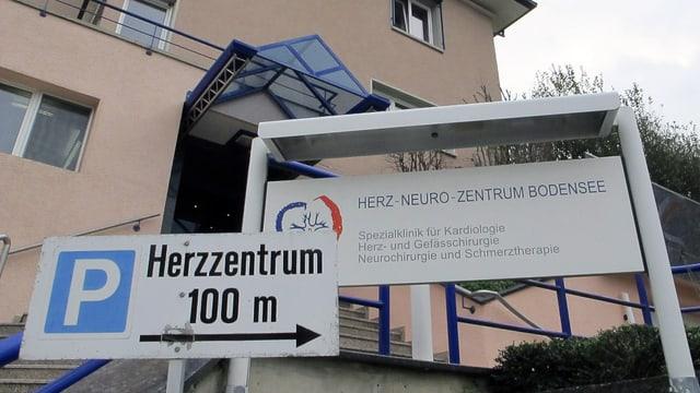 Gebäude des Herz-Neuro-Zentrums Bodensee