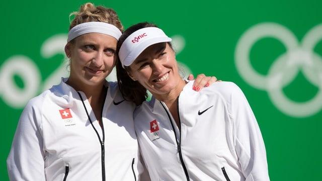 Timea Bacsinszky und Martina Hingis.
