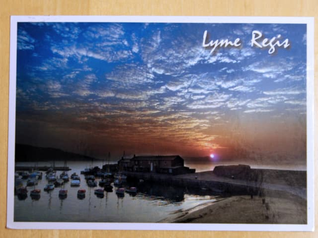 Karte aus England Lyme Regis