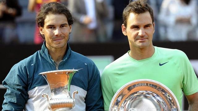 Roger Federer verlor den Final in Rom gegen Rafael Nadal klar in zwei Sätzen.