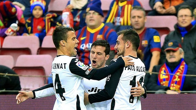 Valencias Spieler jubeln.