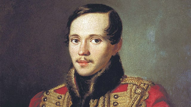 Michail Lermontov, gemalt von Pyotr Zabolotsky, 1837.