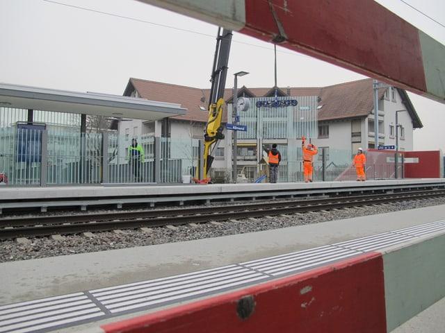 Die letzten Arbeiten werden abgeschlossen und ab 15. Dezember ist die neue Haltestelle Solothurn-Allmend in Betrieb.