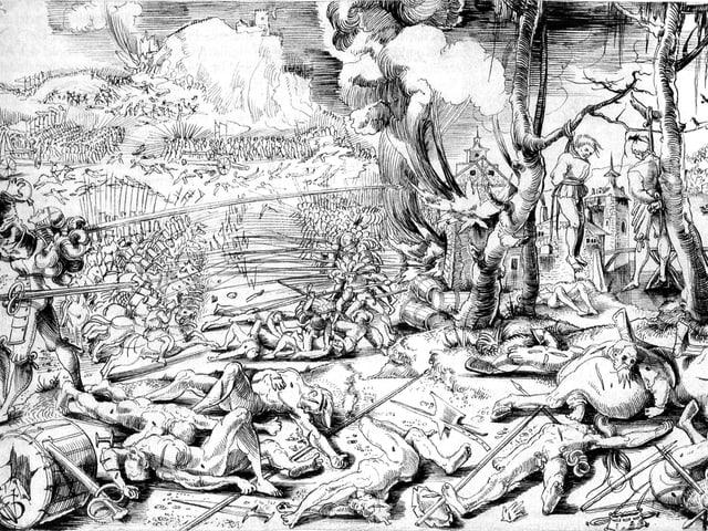 Die Schlacht von Marignano 1515: Clément Janequin beschreibt in «La Guerre», wie sich die Soldaten die Köpfe einschlugen.