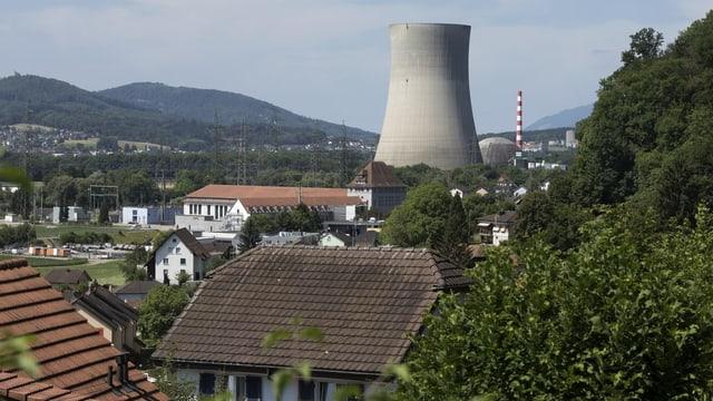 Blick auf AKW Gösgen und Standortgemeinde Däniken
