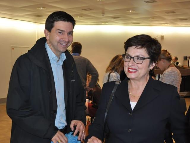 David Wüest-Rudin und Anita Fetz