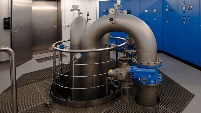 So sieht es im Innern der Wasserversorgung Untere Langete aus: eine Pumpstation.