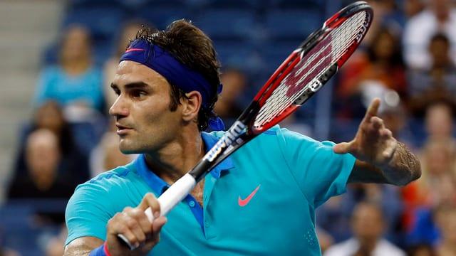 Roger Federer trifft am Samstag auf Marin Cilic.