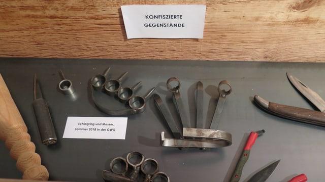 Waffen die im Jugendheim gefunden wurden