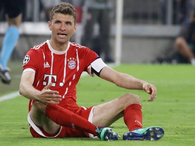 Bayerns Thomas Müller glaubt an die Wende von Madrid.