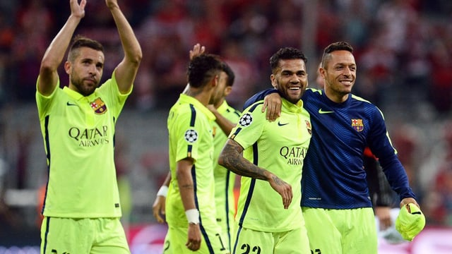 Ils giugader da Barcelona sa legran d'avair cuntanschì il final.
