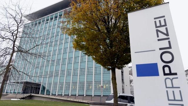 Das Hauptgebäude der Luzerner Polizei in der Stadt Luzern.