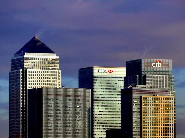 Die Skyline des Londoner Finanzdistrikts.