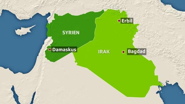 Hilfslieferungen nach Nordsyrien können zurzeit nur noch über Erbil stattfinden.