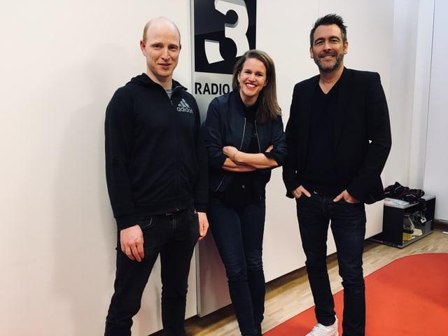 Kathrin Hönegger mit Ivo Sacchi und Andreas Ryser