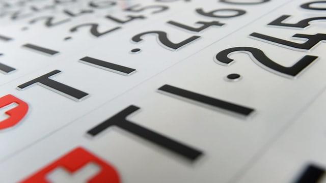 Tessiner Nummernschilder.