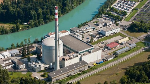 Luftaufnahme des KKW Mühleberg.