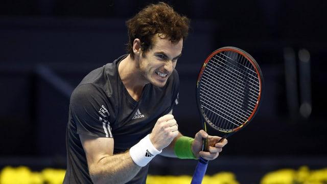 Andy Murray ballt nach einem Sieg die Faust
