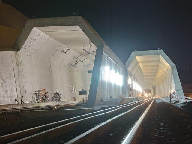 Der Gotthard-Basistunnel bei Erstfeld.