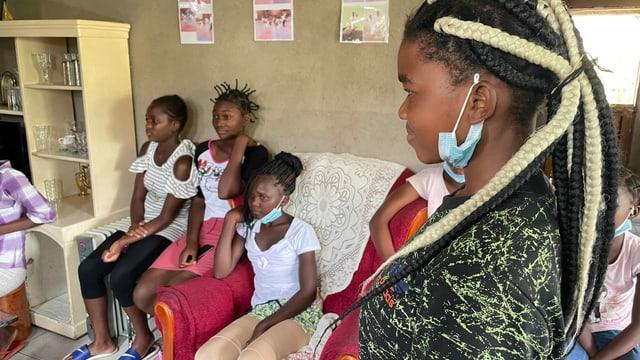 Gruppengespräch mit Mädchen