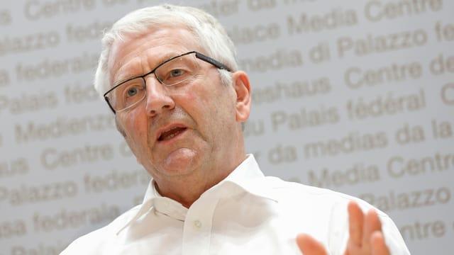 Nationalrat Walter Müller (FDP/SG) führt gegen die Hornkuh-Initiative vor allem Sicherheitsaspekte ins Feld.