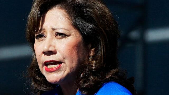 Die abtretende US-Arbeitsministerin Hilda Solis