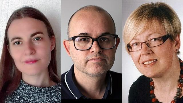 Porträtaufnahmen der Expertenrunde