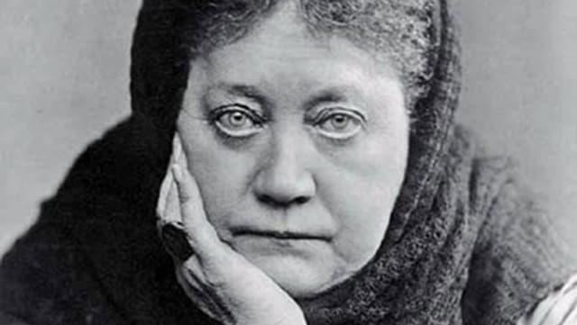 Porträt von Helena Petrowna Blavatsky.