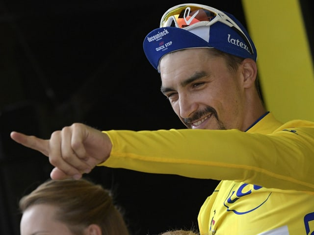 Julian Alaphilippe im Leadertrikot
