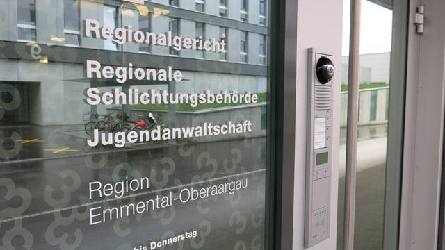 Der Eingang des Regionalgerichts Burgdorf