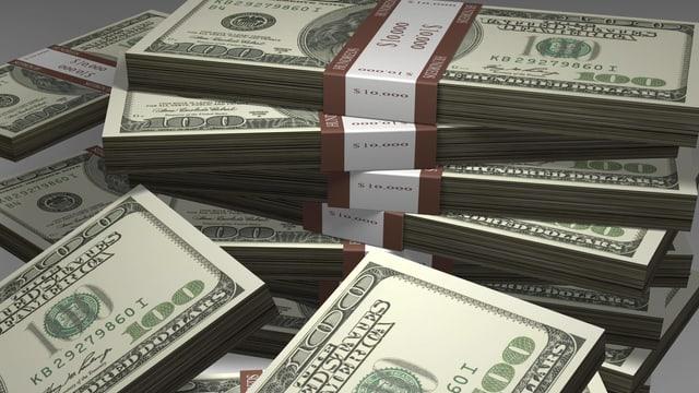 Symbolbild: Dollar-Geldbündel.
