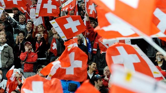 Schweizer Fans an der WM 2009.