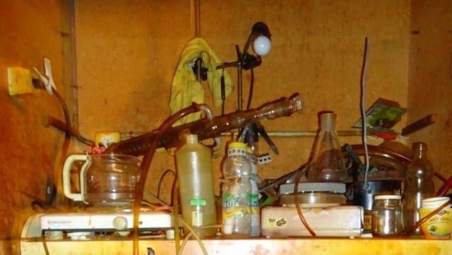 Ausschnitt aus dem Drogenlabor.