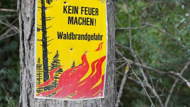 Waldbrandgefahr-Schild