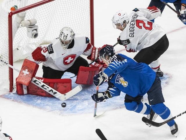Spielszene der Schweiz gegen Finnland